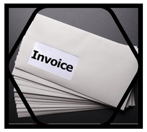 Invoice inside envelopes