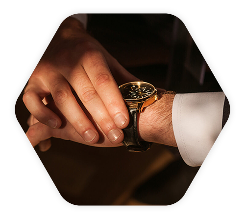 watch on wrist being held by hand