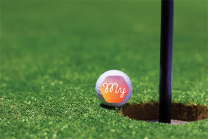 My Invoice Finance logo on golf ball